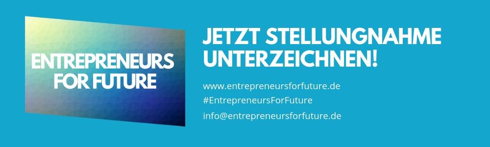 Banner Entrepreneurs for Future